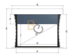 Dodatkowa górna czarna ramka do ekranu Adeo Multiformat