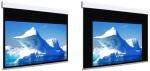 Ekran elektryczny Adeo Biformat BE z czarną ramką 225 cm