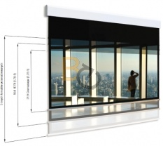 Ekran elektryczny Adeo Multiformat 275 cm