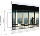 Ekran elektryczny Adeo Multiformat 325 cm