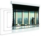 Ekran z napinaczami Adeo Tensio Multiformat 225 cm