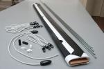 Powierzchnia projekcyjna szybkiego montażu ADEO 155x155 cm (1:1)