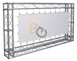Powierzchnia projekcyjna szybkiego montażu Adeo Eyelet 1100x687 cm (16:10)